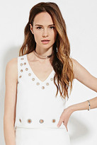 Forever 21 FOREVER 21+ Contemporary Boxy Grommet Top