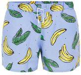 Topman Blue Banana Print Swim Shorts