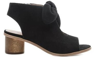 Bernardo Luna Wood Heel Sandal Black