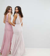 TFNC Petite Petite Maxi Bridesmaid Dress With High Low Hem