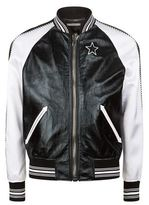 Givenchy Leather and Satin Star Bomber Jacket