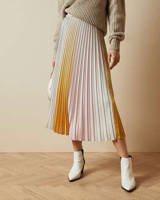 Ted Baker NOVIIA Ombre pleated skirt