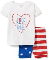 Old Navy 2-Piece July 4th Graphic Sleep Set for Toddler & Baby