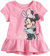 Disneyjumping Beans Disney's Minnie Mouse Baby Girl Graphic Peplum-Hem Top by Jumping Beans
