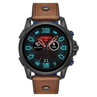 Diesel Mens Smartwatch with Leather Strap DZT2009