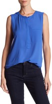 NYDJ Sleeveless Henley Blouse