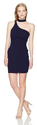 My Michelle Women's One Shoulder Choker Neck Dress