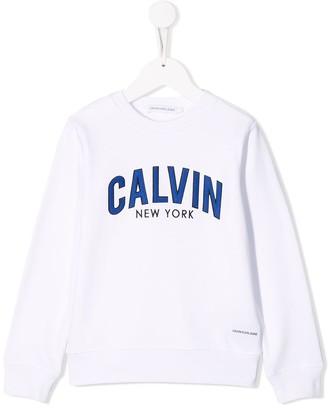 Calvin Klein Kids Logo Embroidered Sweatshirt
