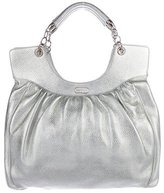 Lambertson Truex Metallic Leather Handle Bag