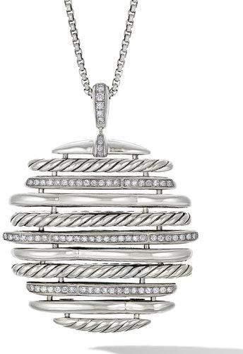David Yurman Tides Diamond Pendant Necklace