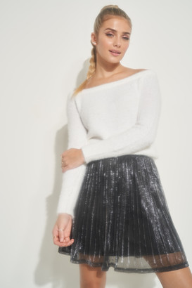 Ardene Sparkly Pleated Mini Skirt