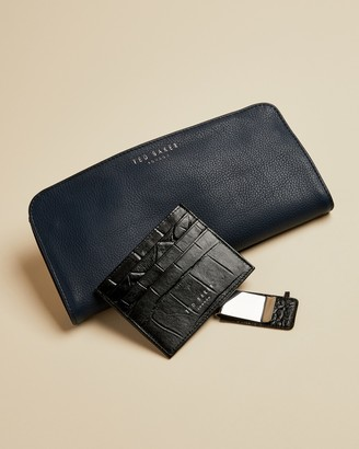 Ted Baker CROCCER Leather money clip and cardholder gift set