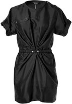 Isabel Marant Black Belted Silk Tilda Mini-Dress