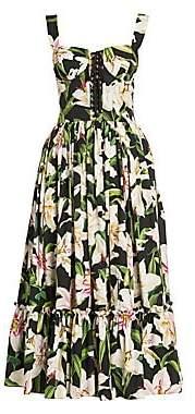 Dolce & Gabbana Women's Corset Bustier Floral Dress