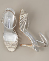 Snakeskin Strappy Sandal