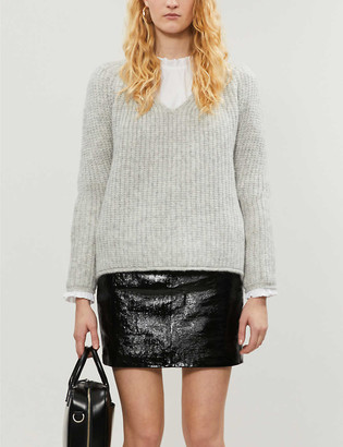 Rag & Bone Joseph ribbed V-neck stretch-knit jumper