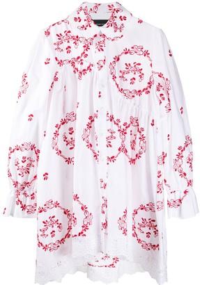 Simone Rocha Embroidered Ruffled Long Shirt