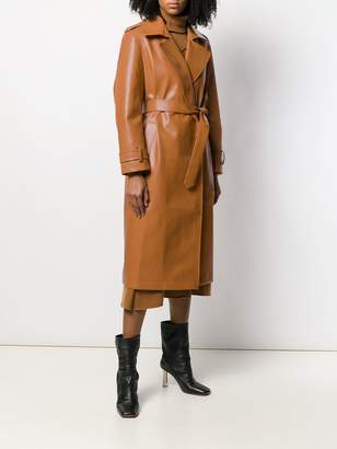 Each X Other vegan leather trench coat