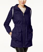 Laundry by Shelli Segal Hooded Cinched-Waist Parka