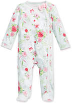 First Impressions 1-Pc. Floral-Print Footed Coverall, Baby Girls (0-24 months), Only at Macy's