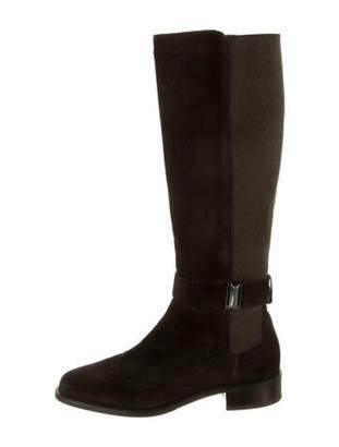 Aquatalia Suede Riding Boots Brown