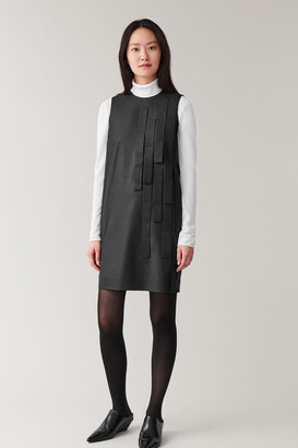 Cos Wool Dress With Strap Detail