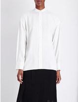 Helmut Lang Cutout-detail twill shirt