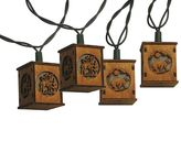 Kurt Adler 10-Light Bear & Deer Wooden Lantern String Lights
