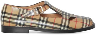 Burberry 20mm Hannie Check Print Leather Flats