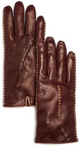 Bloomingdale's Cashmere Lined Whip Stitch Leather Gloves - 100% Exclusive