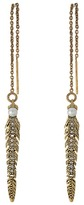 Rebecca Minkoff Feather Threader Earrings