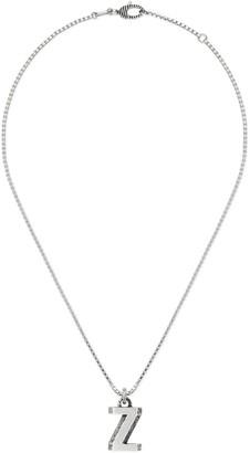 "Gucci Silver ""Z"" letter necklace"