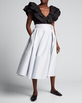 Thumbnail for your product : ADEAM Bellflower Self-Tie Midi Skirt