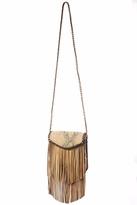 Areias Leather Crossbody Fringe Bag