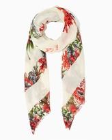 Charming charlie Splashy Floral Print Scarf