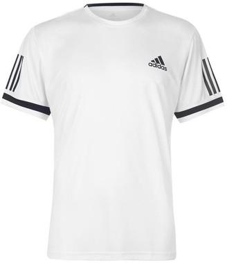 adidas Club 3 Stripes T Shirt Mens