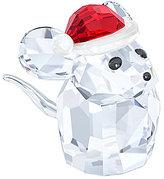 Swarovski Mouse with Santa's Hat Figurine