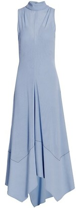 Proenza Schouler Silk Crepe Georgette Handkerchief Midi Dress