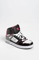 DC 'Rebound' Skate Shoe (Little Kid & Big Kid) Black/ Pink 5.5 M