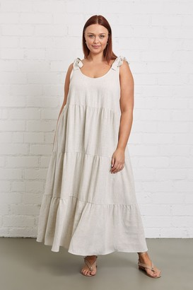 White Label Linen Adelaide Dress - Plus Size
