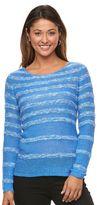 Caribbean Joe Women's Striped Tape Yarn Sweater