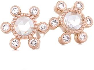 Couture Sethi Round Rose Cut Diamond Earrings