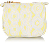 Aerin Beauty - Ikat Small Printed Canvas Cosmetics Case - Yellow