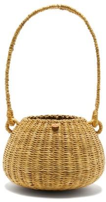 Muun Oriane Straw Basket Bag - Black Multi