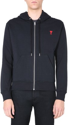 Ami Alexandre Mattiussi Hooded Sweatshirt With Zip And