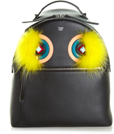 Fendi Leather and fur backpack