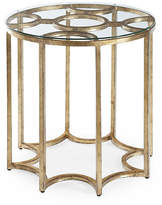 Chelsea House Astor Round Side Table - Antiqued Gold