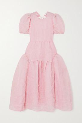 Cecilie Bahnsen Katrine Open-back Crinkled Silk-blend Organza Gown - Pink