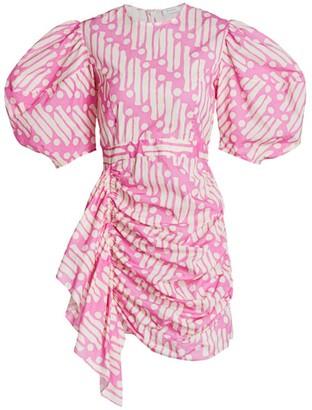 Rhode Resort Pia Puff-Sleeve Batik Cotton Dress