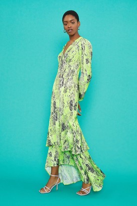 Coast V-Neck Tiered Hem Maxi Dress